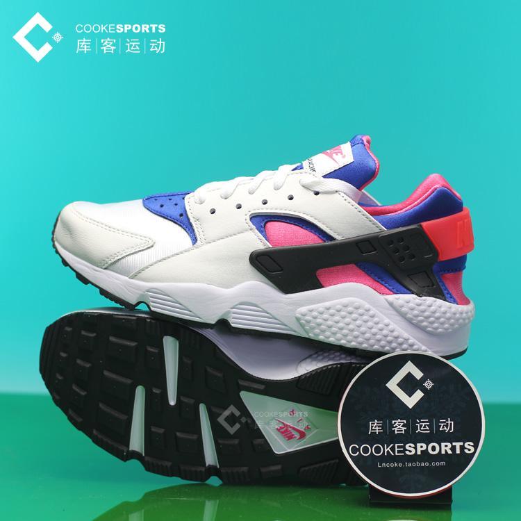库客 Nike Huarache全白黑武士樱花粉运动跑步鞋女鞋 705088-001