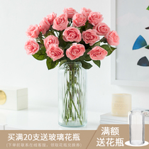 Feel moisturizing simulation rose bouquet decorative flower living room Table decoration decorative display simulation flower fake flower