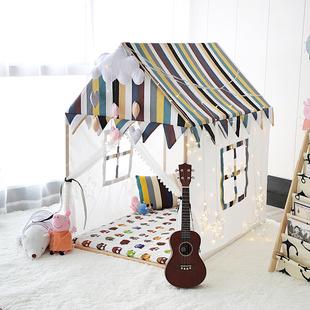 网红ins实木儿童帐篷公主城堡游戏屋男宝宝室内大房子婴儿玩具床