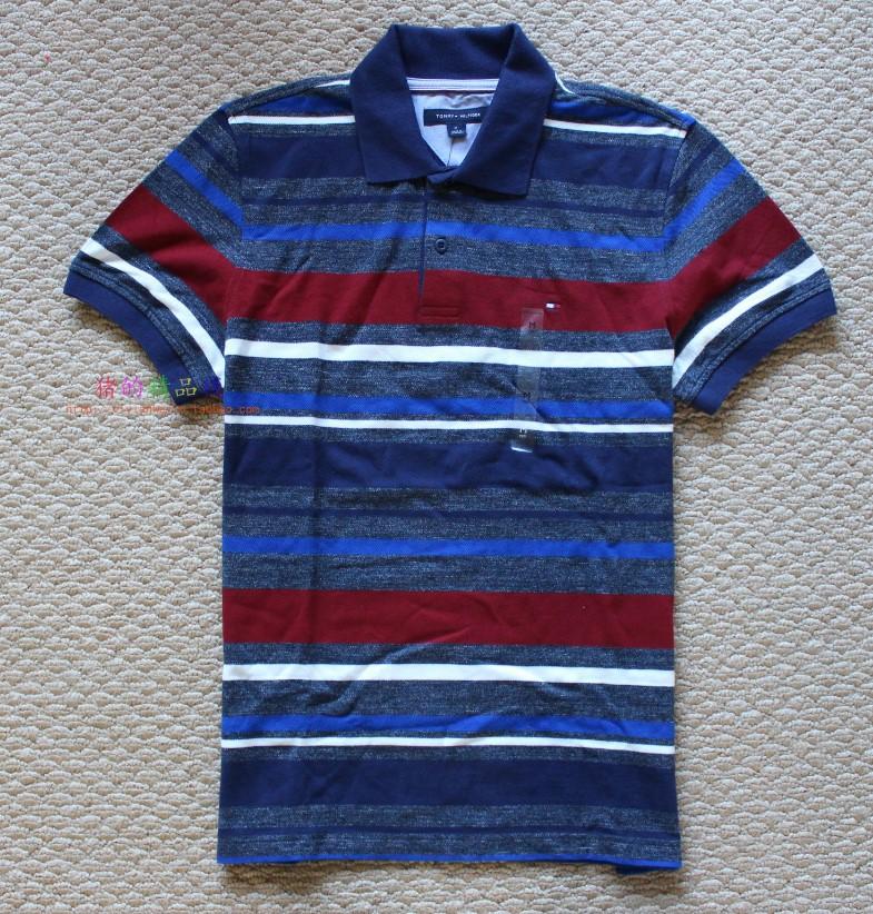 国内现货 Tommy Hilfiger 美国正品采购 男士彩条时尚短袖polo衫