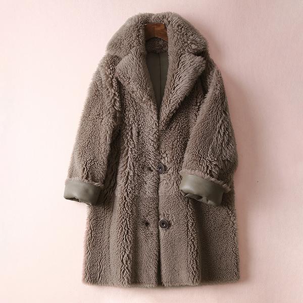 ¥ 3380 теплый эффектное красивый обещание цельная овечья шкура короткий пальто шуба пальто женский осенний зима R348