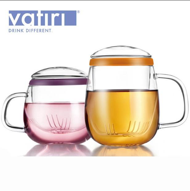 乐怡情侣三件杯情侣杯女款单层玻璃杯玻璃水杯有盖家用茶杯