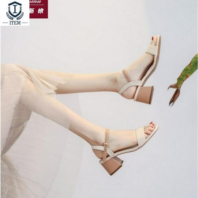 配裙子的鞋仙女气质李溪芮同款高跟鞋女2020年新款夏天百搭气质潮