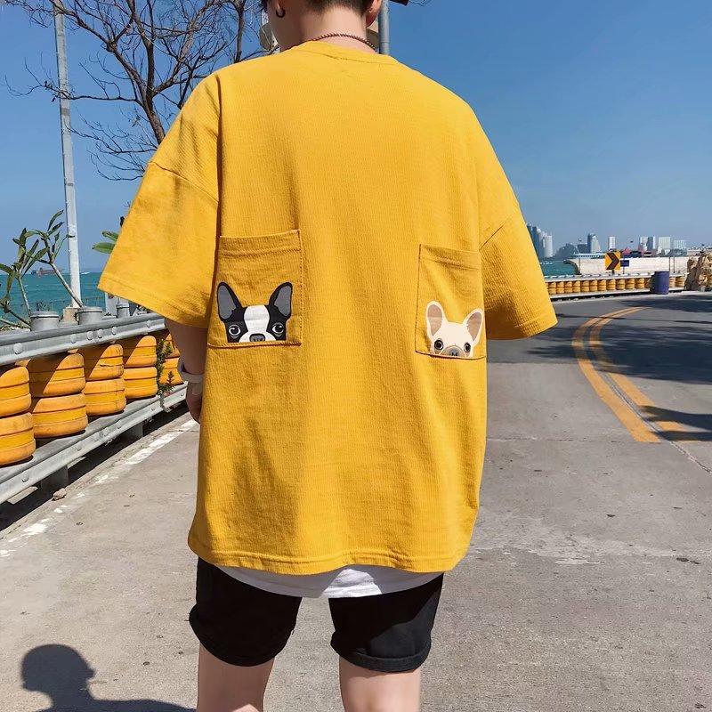 2019夏装新款潮牌T恤印花男生短袖港风ins超火的宽松圆领半袖衣服(非品牌)