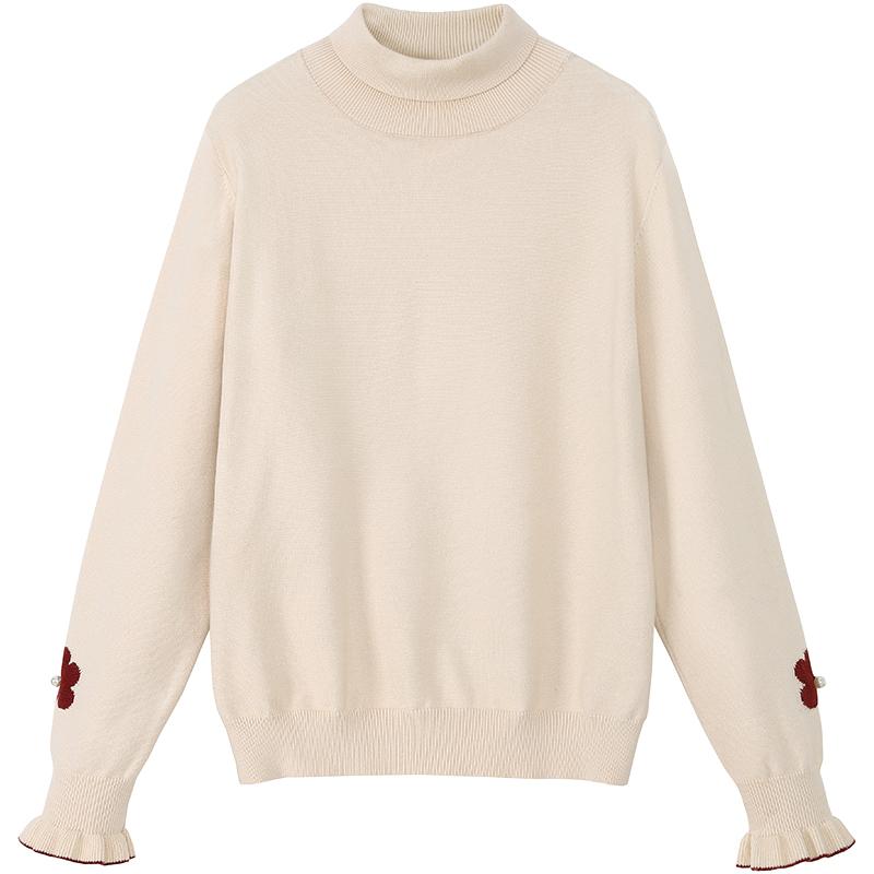 MG小象打底针织衫2019秋冬新款韩版内搭毛衣洋气长袖高领套头上衣