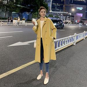 双面呢羊绒大衣女中长款过膝2019秋冬新款女装韩版高端羊毛呢外套