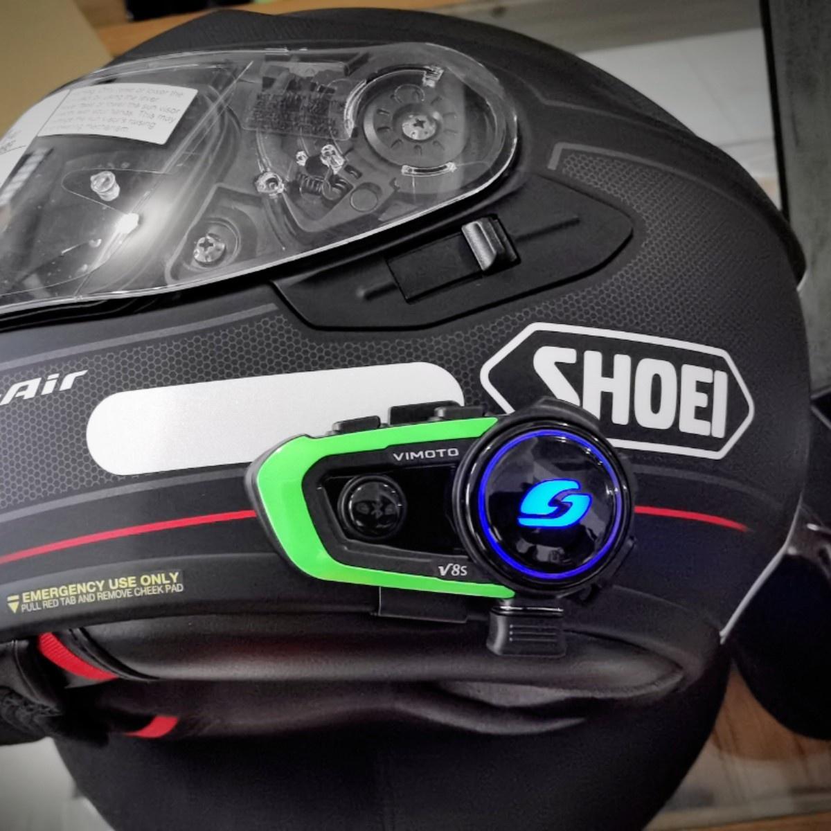 逐鹿机车北京店 维迈通V8S摩托车头盔蓝牙耳机无线对讲机现货