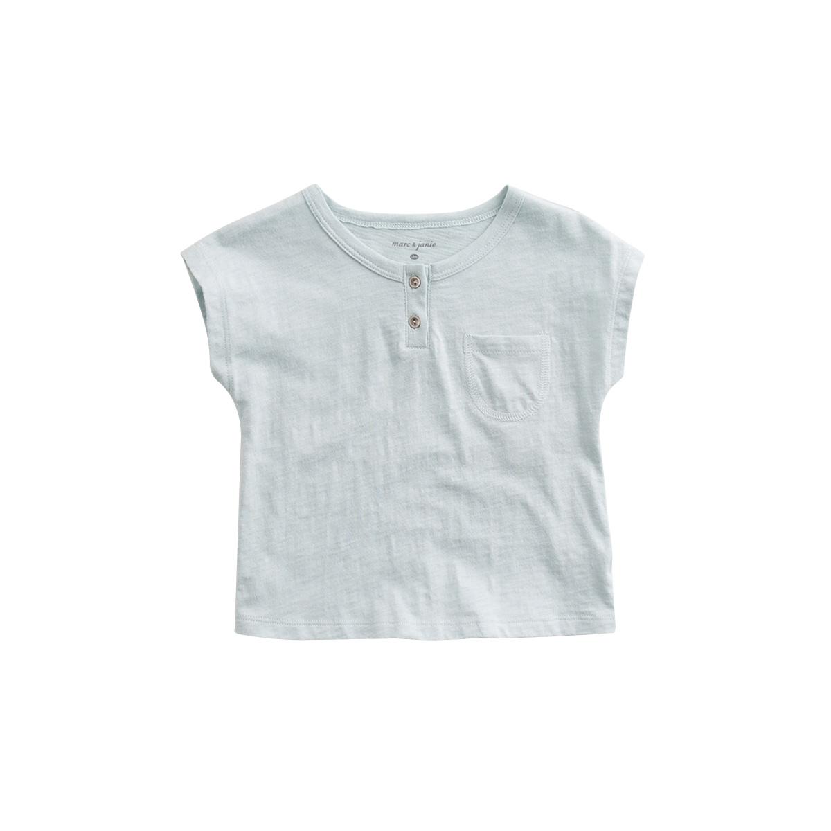 馬克珍妮男童 純色純棉t恤