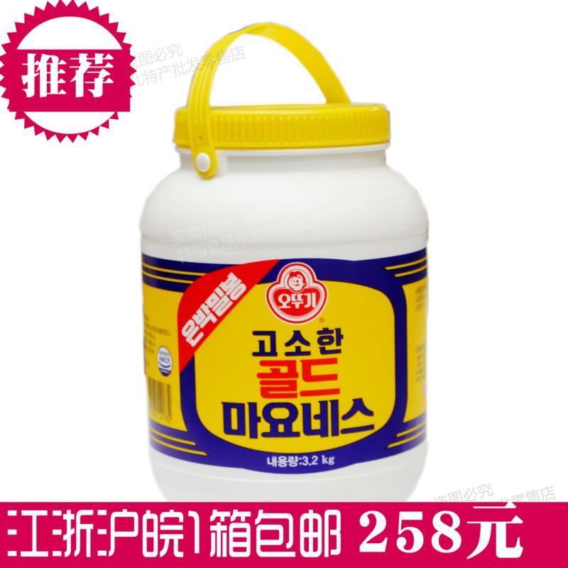 预售江浙沪皖包邮韩国进口不倒翁色拉酱3.2kg*4个沙拉酱蛋黄酱