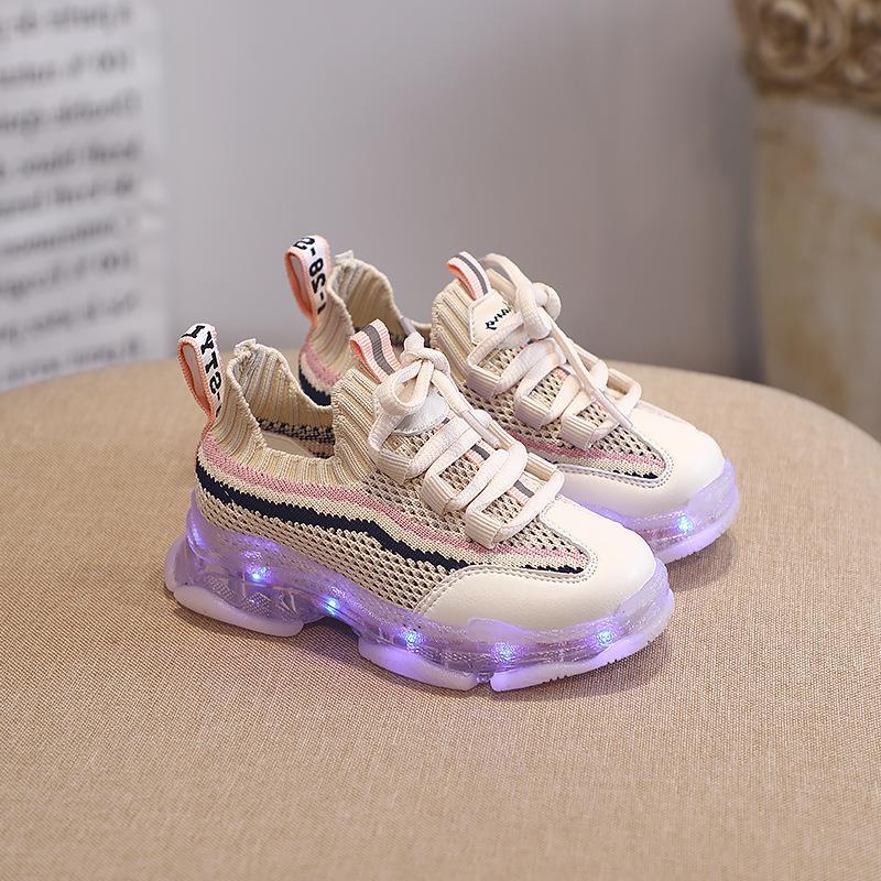 (用1元券)新款七彩亮灯超酷的男女童跑鞋童鞋