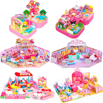 Kitty KT fast food car home set girl after family role-playing child simulation my home toys