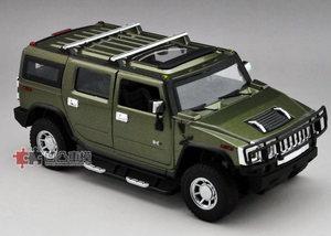 美致MZ原厂1:24 悍马H2 HUMMER SUV越野车合金仿真金属汽车模型绿