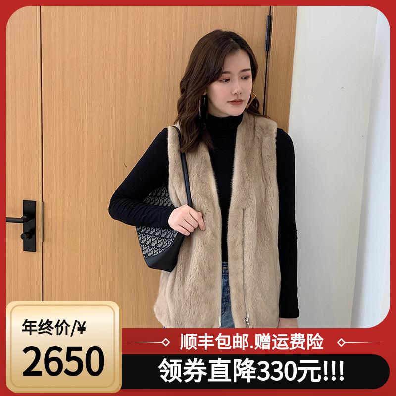 19 mink coat female whole mink imported velvet mink fur grass coat short vest shoulder leisure winter