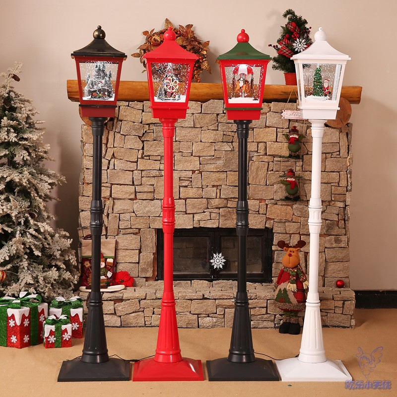 Christmas decorations new snow windmill music street lamp shopping mall hotel supermarket school living room ornaments