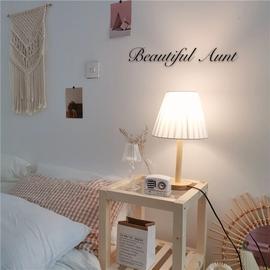 *漂亮的小姨妈* ins复古百褶台灯少女简约韩国卧室床头房间装饰灯