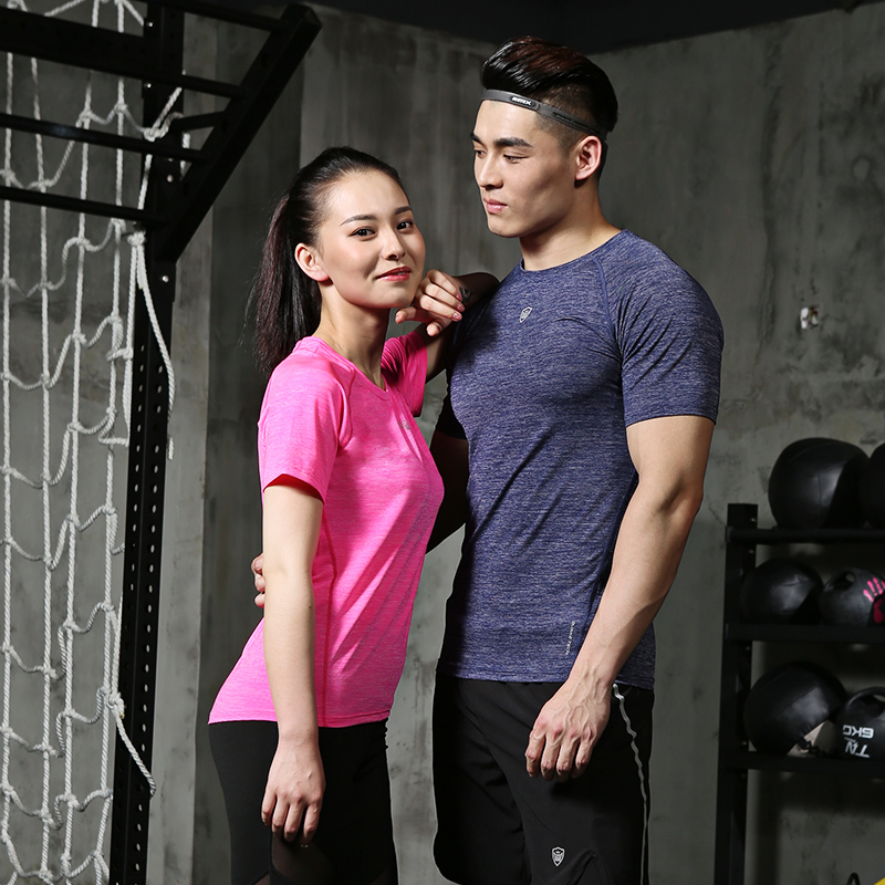 紧身衣男女速干t恤短袖健身服高弹篮球跑步吸汗训练运动上衣雷魅