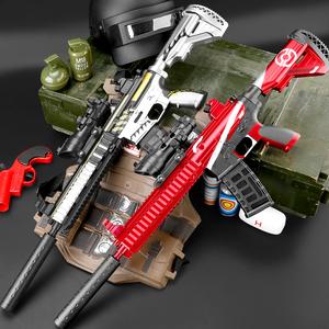 M416满配手自一体吃鸡全套装备电动连发水弹枪m4a1男孩儿童玩具枪