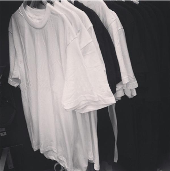 纯棉高品质圆筒打底素色TEE短袖T恤纯白 纯黑 纯灰余文乐同款
