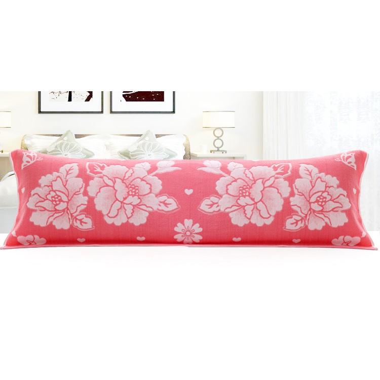 全棉150cm加长加厚大枕头毛巾1.5米纯棉双人情侣长枕巾 1.5m