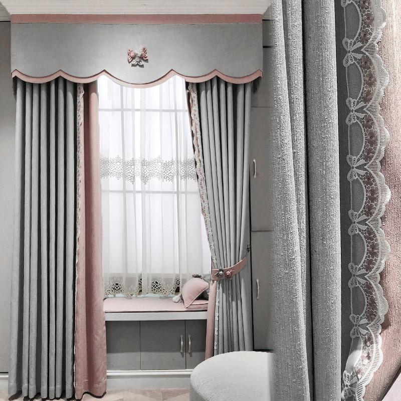 近代的で簡単な北欧2021新型客間の寝室は軽くて贅沢で高級な地面につく遮光の断熱材でカーテンの花の錦をカスタマイズします。