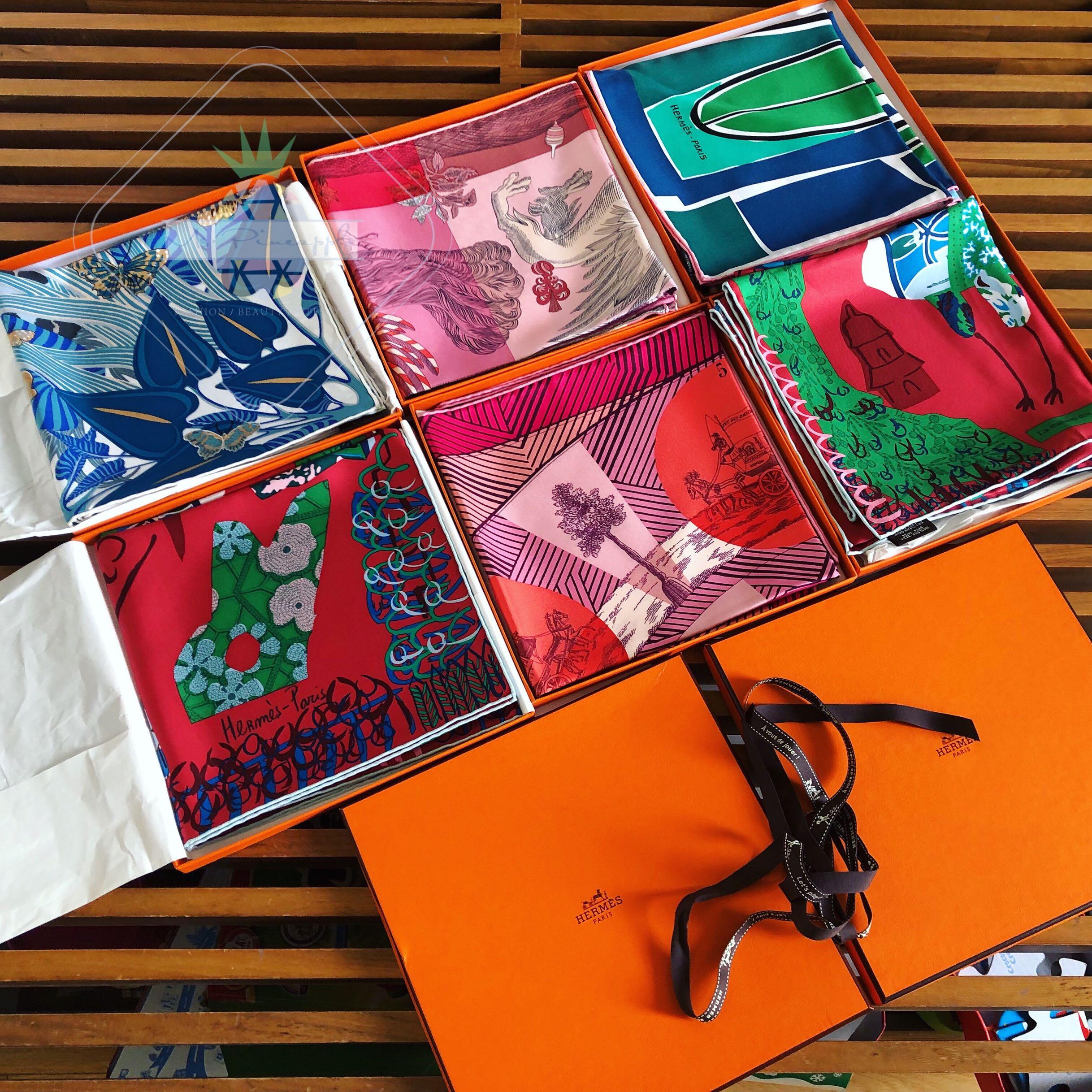 意大利爱马仕Hermes新款女士丝巾蚕丝 90*90印花方巾