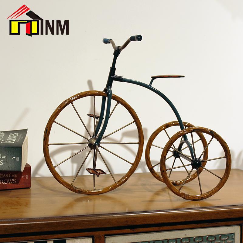 小自行车摆件 复古玄关客厅电视柜茶几摆设 书房桌面装饰品 礼物