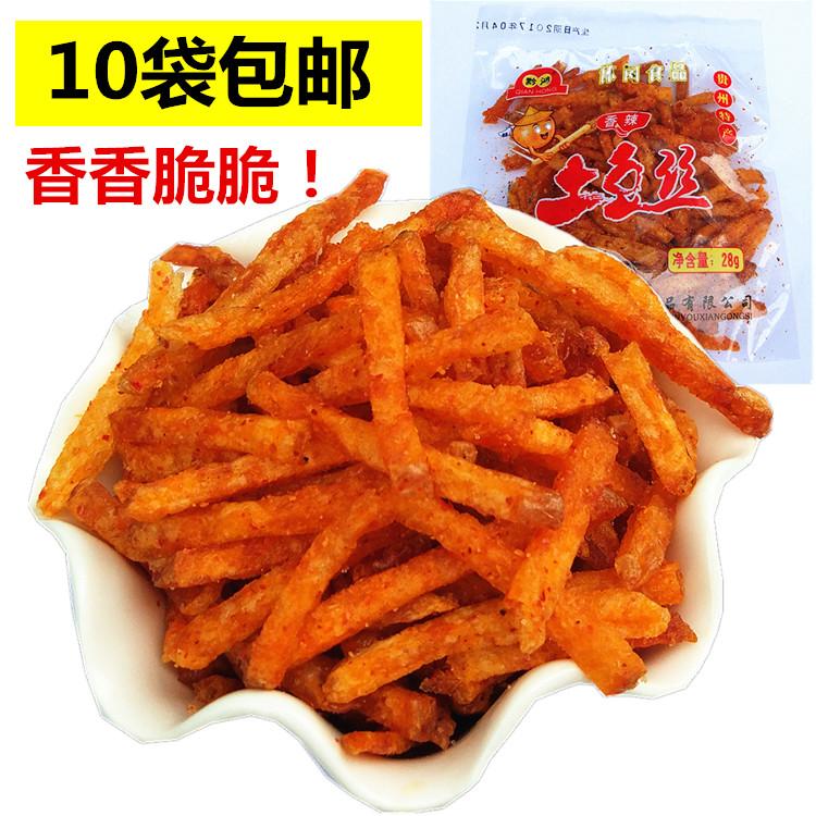 全国满10袋免邮贵州特产 黔鸿香辣麻辣土豆丝洋芋丝零食小吃