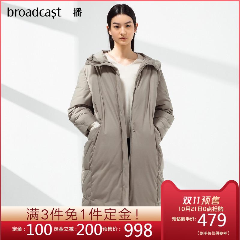 播冬装新款韩版休闲宽松连帽茧型中长款羽绒服女BDL4R479 thumbnail