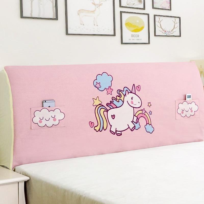 限8000张券床头套粉色软床加厚少女单人软包清新床罩床头罩卡通儿童卧室单层