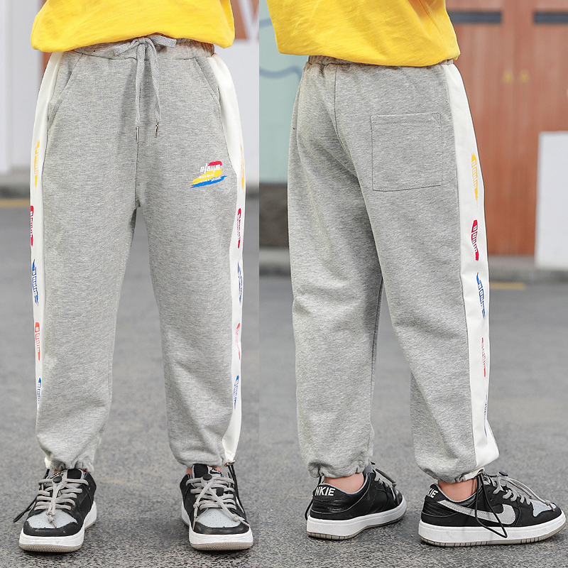 Childrens wear childrens soft jeans childrens beach pants 2021 pants side boys 56 sports pants childrens casual pants