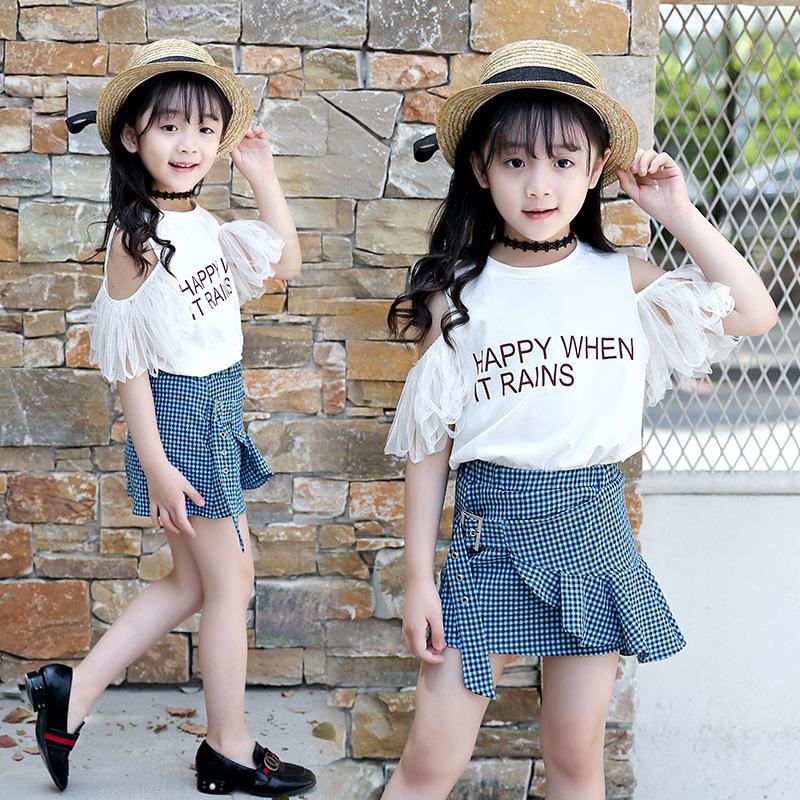 青蛙王子童装官方旗舰店1001夜新款吧啦红黄蓝夏季短袖+裙子韩版