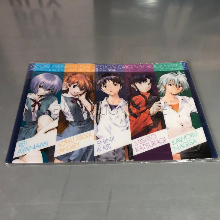 Japanese version spot new century evangelical warrior EVA weekly special edition plastic bookmark out of print 1 set, 5 into
