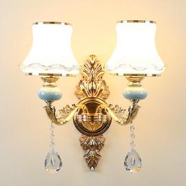 水晶客厅壁灯欧式卧室会所背景墙奢华壁灯简约现代床头灯过道灯