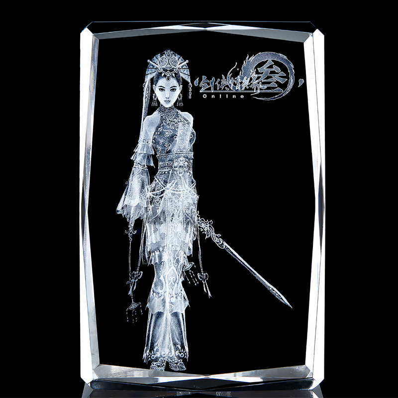 Sword net three surrounding gifts swordsman love 3 crystal figure carving ornaments seven show Tangmen Tiance overbearing song
