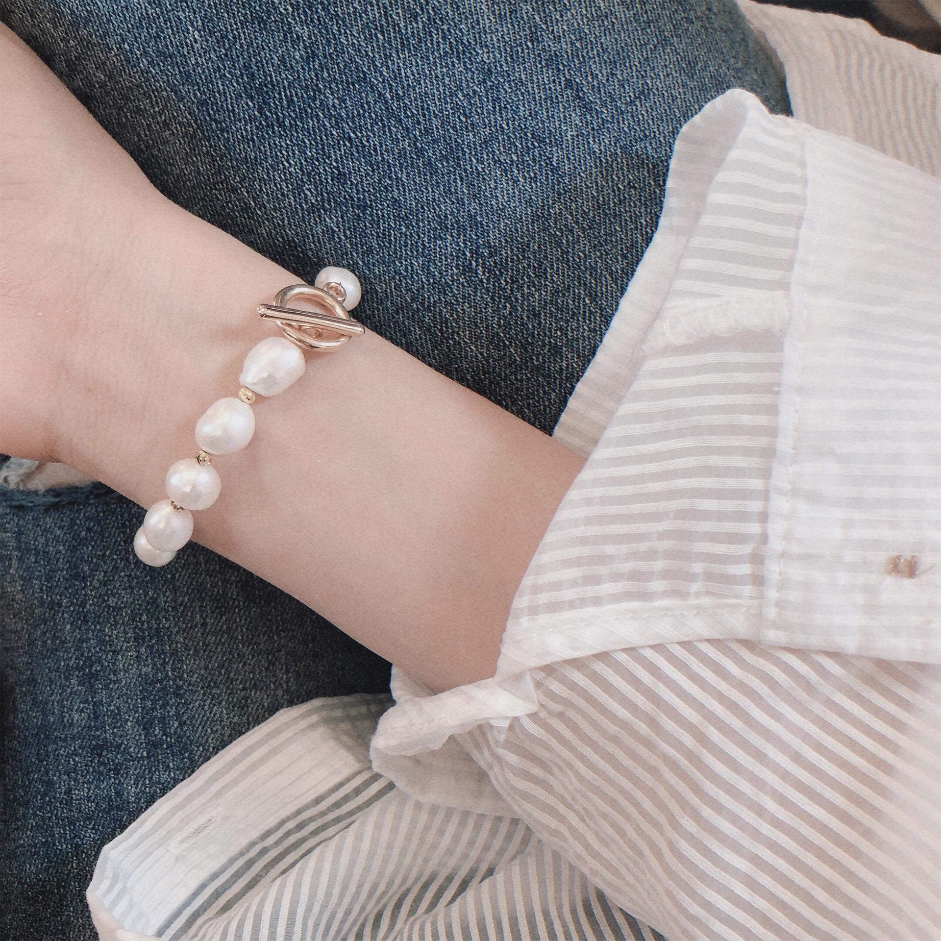天然淡水珍珠手链工艺手工定制小众设计清轻奢流行饰品