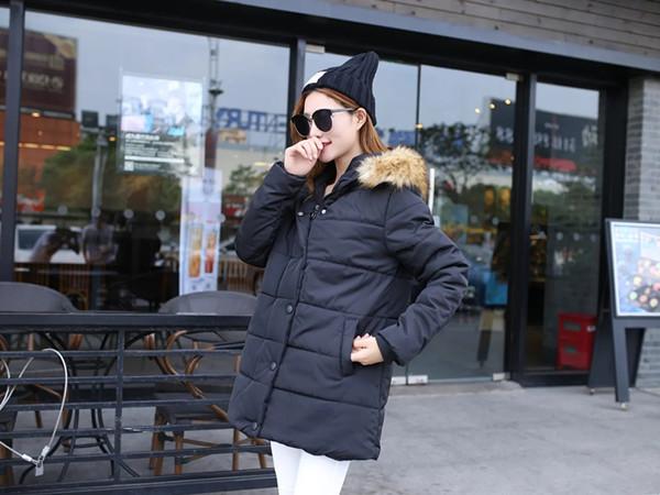 特大码女装冬季棉服胖MM200斤韩版宽松大毛领长袖贴标棉衣外套女