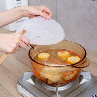日本进口煲汤吸油膜去油膜 食品吸油棉 食物去油吸油纸12片