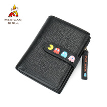 Scarecrow Wallet female short small fresh folding thin simple 20 percent student Korean version cute multifunctional personality tide