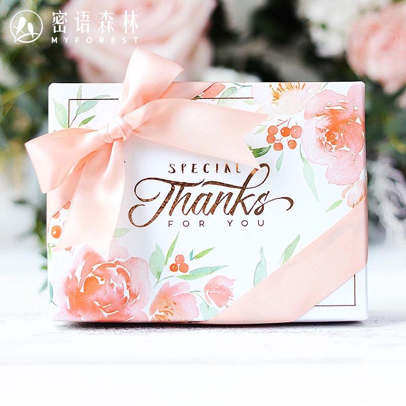 限9000张券密语森林欧式喜糖盒粉色糖果包装盒