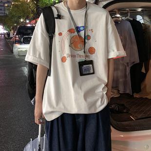 夏季超火cec短袖男生潮牌潮流港風情侶ins學生百搭寬鬆半袖T恤衫
