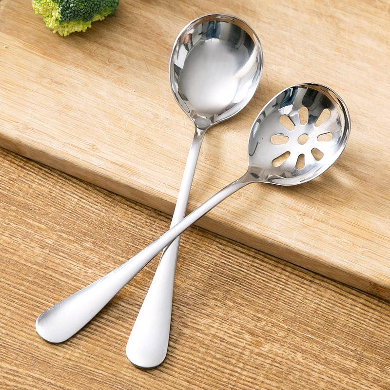 居家家 不锈钢火锅汤勺家用长柄漏勺 厨房用品捞勺捞面勺子火锅勺