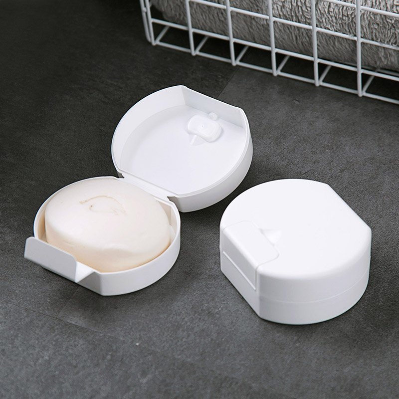 (用1元券)居家家旅行便携肥皂盒家用塑料收纳盒创意旅游简约带盖洗脸香皂盒