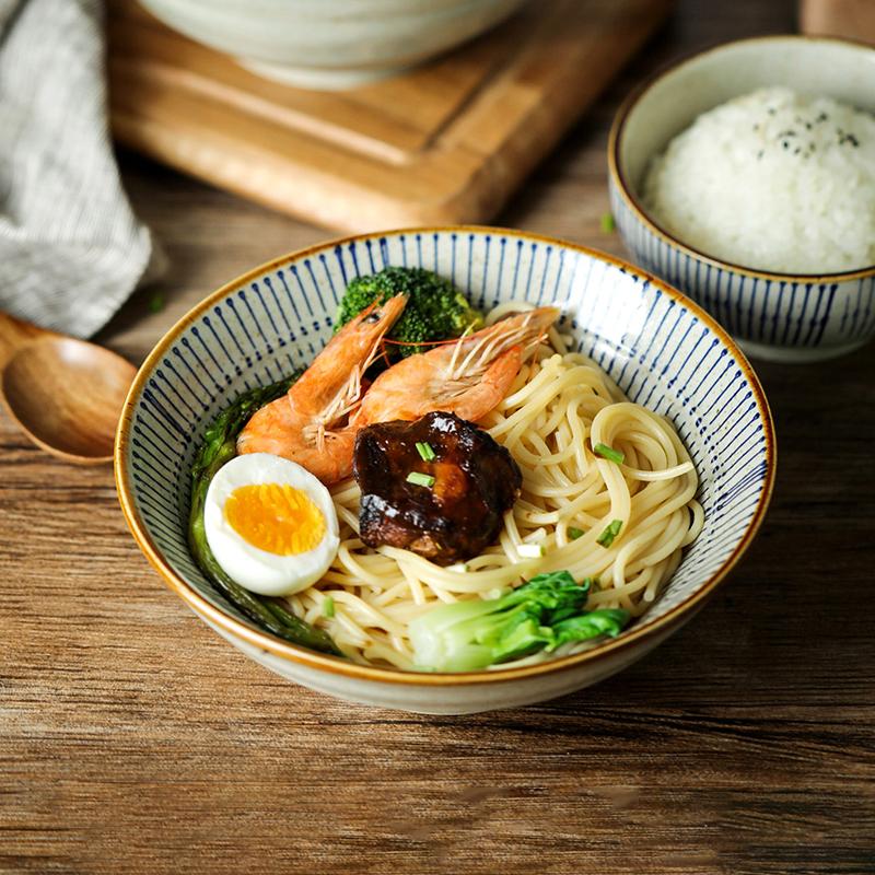 居家家日式复古家用学生陶瓷陶瓷碗