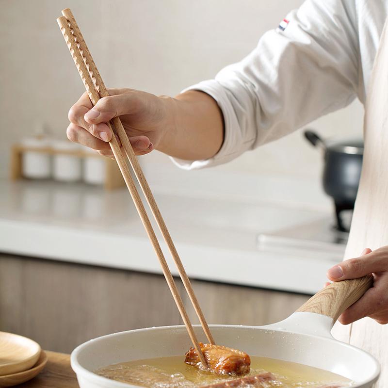 满4.50元可用1元优惠券居家家榉木筷子家用油条实木筷子