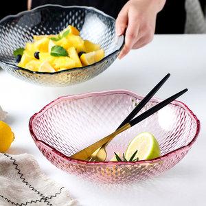居家家菱形纹水果盘家用客厅干果盘塑料糖果盘瓜子盘水果盆零食盘