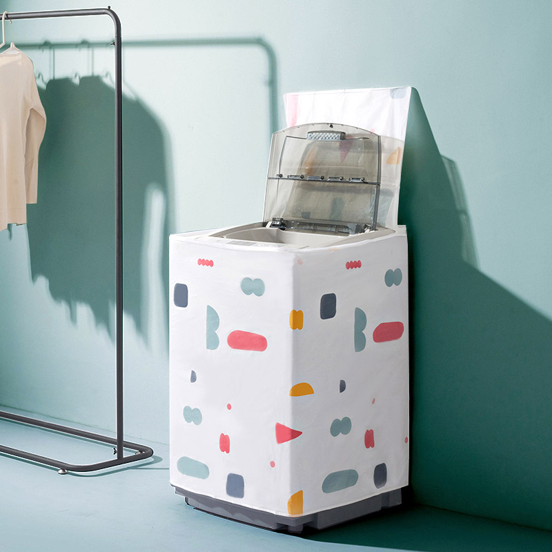 Домой домой водонепроницаемый стиральная машина плюс крышка толщина солнце пылезащитный чехол домой автоматический волна круглый ролик стиль стиральная машина крышка