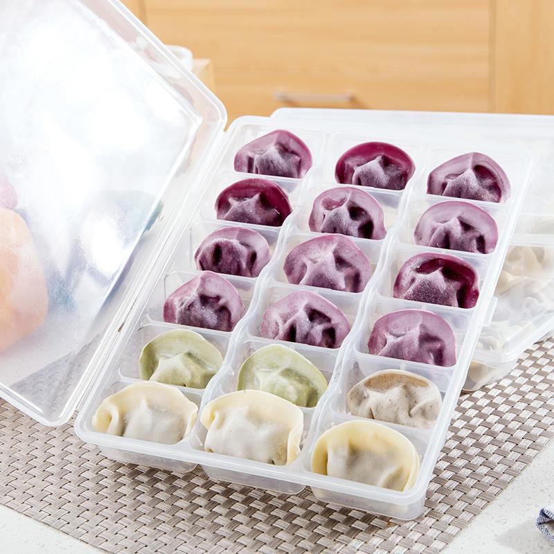 Домой домой холодильник скорость замораживать пельмени в коробку пластик сохранение коробка кухня решетка вода клецка лоток пельмени коробка