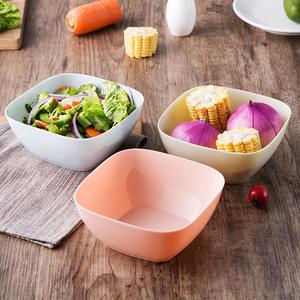 居家家方形水果盤客廳塑料水果盆家用廚房洗菜盆茶幾糖果盤沙拉碗