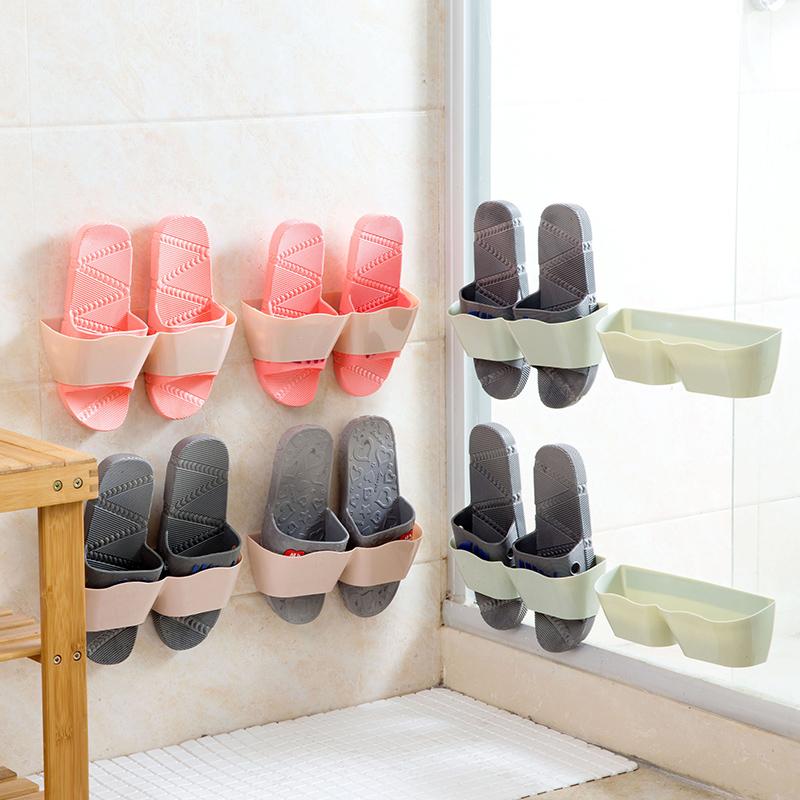 Домой домой настенный стиль трехмерный обувная полка стена на шлепанцы полка домой гостиная легко палка стиль обувь хранение полка