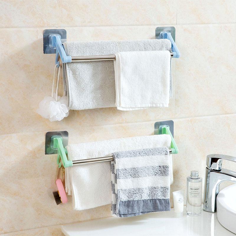 Домой домой нержавеющей стали перфорация для полотенец ванная комната полотенце поляк ванная комната двухполюсный полотенце стойка для полотенец